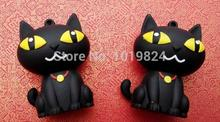 100% real capacity U Disk pen drive black cat keychain 8g/16g animal usb flash drive flash memory stick pendrive S32(China)