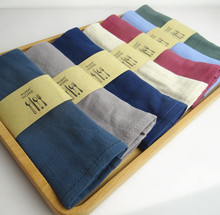 6pcs/lot Solid Table Napkin Plain Dyed Color Napkins Home Textile Table Placemats Linen Fabric Kitchen Dining Bar Towel