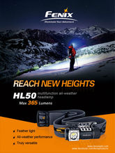 New Fenix HL50 Headlamp 3 Mode Strong Multi-Purpose--Free shipping CREE XM-L2 T6 LED(China)