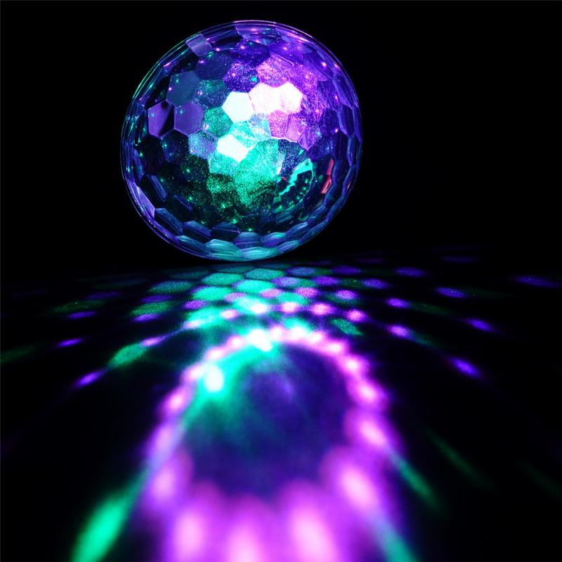 Professional Voice Cotrol Stage Light MP3 IR Remote Digital RGB LED Crystal Magic Ball DI Party Disco Stage Lights Sound Active<br><br>Aliexpress