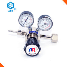 "2000psi nickel plated brass 6mm hose barb G5/8"" cylinder co2 nitrogen oxygen gas gauge pressure regulator"