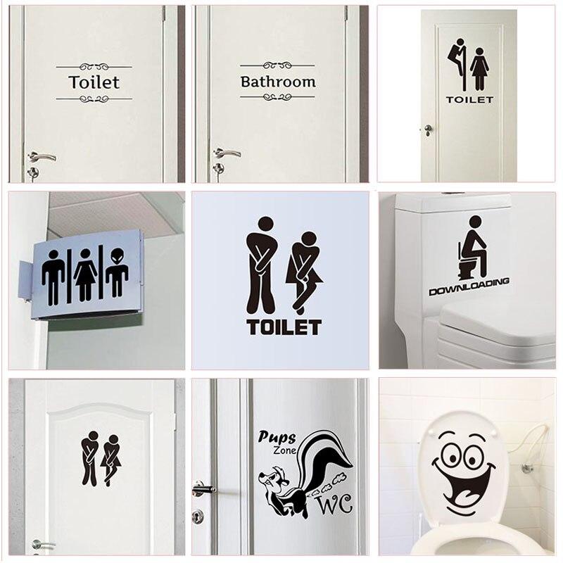 GT Graphics Bathroom Sign Restroom Unisex Bathroom Sign Vinyl Sticker Waterproof Decal