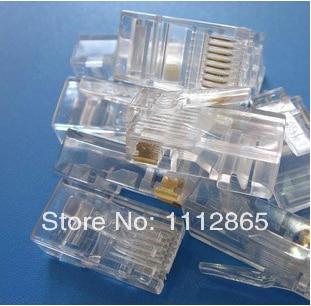 50Pcs/lot Metal Shield  8P8C Network CAT5E CAT Modular Plug RJ45 Connector Free Shipping<br><br>Aliexpress