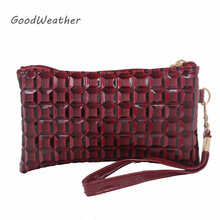 Promotion women clutch purse mini wine red patent leather bag for party fashion envelope bags with strap 2colors