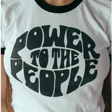 Vintage Style Power To The People Slogan Fashion T-Shirt Women Summer Casual Ringer Tee Equality Shirt Justice Graphic Tops(China)
