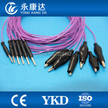 10pcs/pack Purple Brain leadwires 1.5m for medical,Cup EEG cord,TPU cable CE&ISO13485 proved Manufacturer