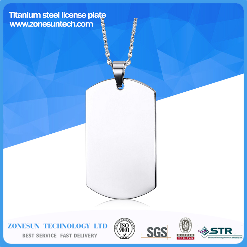 Stainless Steel Silver Blank Dog Tag Pendant Husband Wife Friendship Gift Personalized Necklace<br><br>Aliexpress