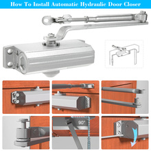 Automatic Door Closer With Hydraulic Hinge 65Kg Standard Arm Dual Hydraulic Speed Control Aluminium Alloy Door Closing Device