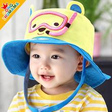 2017 new children's cartoon spring and summer hats for toddlers, baby girls sun hat, bucket panama hat for kid 1-3T