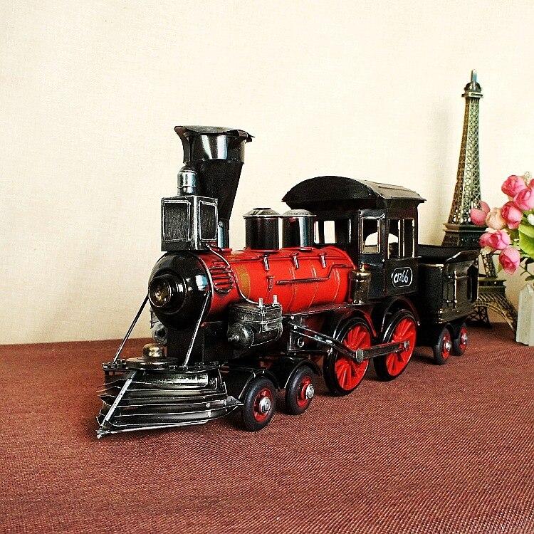 Handmade Retro Iron 1829 steam train Model Ornaments Vintage Metal steam train Crafts Home Decor Kids Gift Free Shipping 1250<br>