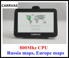 HOT in Russia! 4.3'' car GPS auto GPS navigator 800Mhz CPU, DDR 128 MB, built-in 4GB, 2016 Europe maps or Russia Navitel 9.1 map