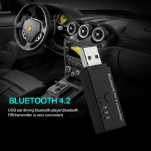Automobiles New listing style Player Bluetooth FM Transmitter Talking 10 Meters Effective Distance Car Driving V4.2 EDR USB