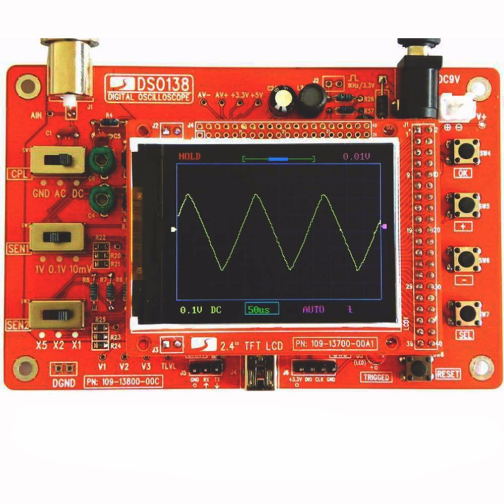 DSO138 2.4 TFT Soldered Pocket-size Digital Oscilloscope Kit With Charger<br><br>Aliexpress