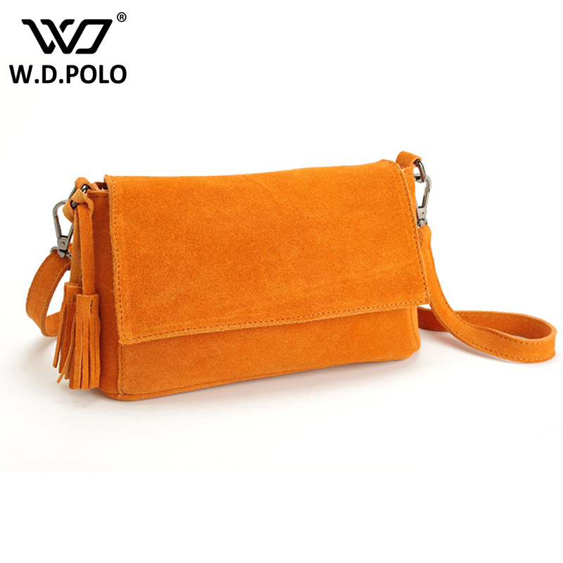 WDPOLO new brand handbag women genuine leather bag female tassel shoulder bags high quality leather tote bag women bags C324<br>