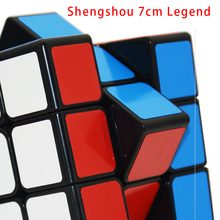 2017 New Shengshou 3x3x3 7cm Legend Cube Magic Cube Speed Puzzle Educational Toys 3x3x3 Cube Black(China)