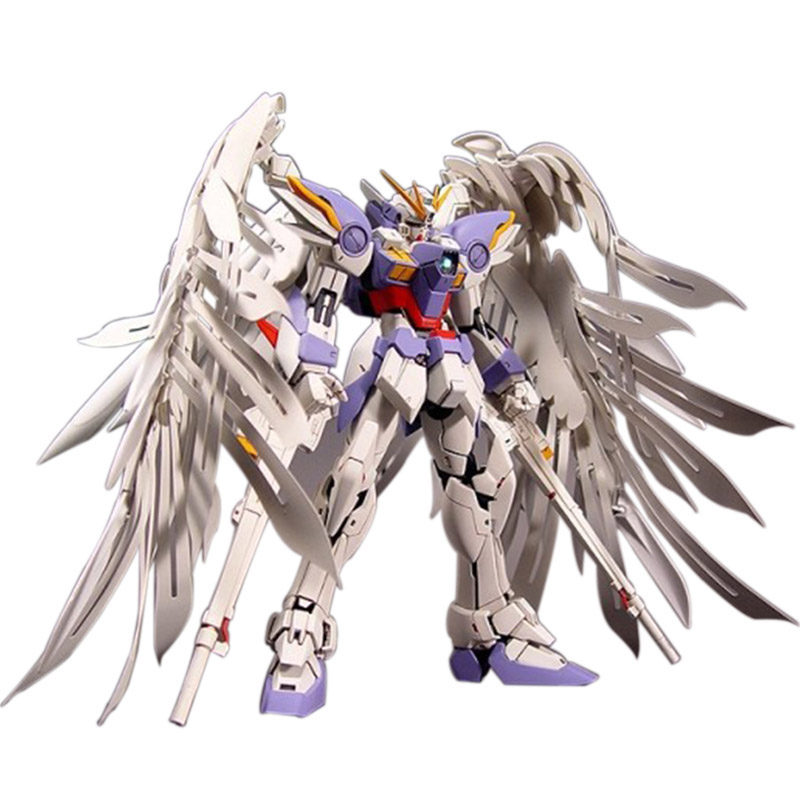 Brand 1:100 MG Gundam 20cm Wing Zero Wing Fighter MG028 Anime Assembled Soldiers Robot With Orignal Box Action Figure<br>