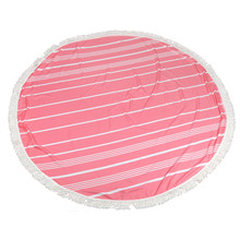 KXAAXS Indian Mandala Round Beach Throw Hippie Tapestry Pink Yoga Mat White stripes print tassel decorated Towel Bohemian 2017