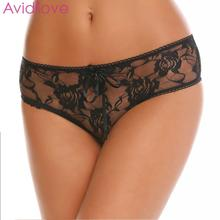 Buy Avidlove Sexy Underwear Lingerie Women Panties Sexy Lace G-string Hollow Crotch Floral Briefs Open Underwear Knickers Thongs