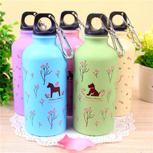 Outdoor Lovely Cartoon Style Sports Water bottle Aluminum Travel bottle Child School My Drink Bottle for kids(China)