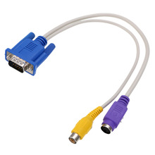 New Arrival 15-Pin Sub-D VGA SVGA to TV RCA S-Video S Video Adapter Converter Cable Mayitr(China)