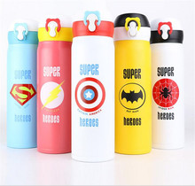 350/500ML Cute Cartoon Garrafa TermicaThermo Coffee Mugs Thermos Stainless Steel Vacuum Flask Kids Cup Travel Water Bottle