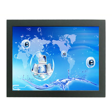 23.6'' open frame DVI VGA signal input and USB touch interface, SAW touch open frame monitor