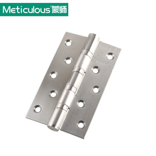 Meticulous Flat open door hinges Thickness 3mm 5 inch ball bearing hinge 126mm stainless steel furniture gate hinge brushed 2PCS
