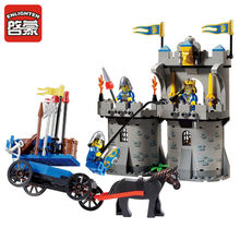 Enlighten Castle Series Medieval Castle Knight Pagoda Carriage Model Building Blocks Sets(China)