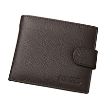 2017 Men Business Genuine Leather Wallet Hasp Designer Purse with Coin Pocket Cards Holder Purses Wallet Gift LT88(China)