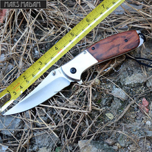 MARS MADAM Free shipping sharp Classical rosewood handle tactical stainless steel folding knife survival knife