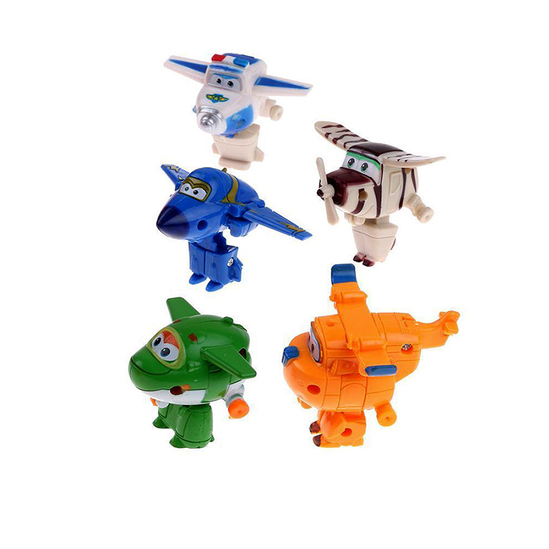 8pcs/set MINI Airplane Anime Super Wings Model toy Transformation Robot Action Figures superwings toys for Children Kids 14