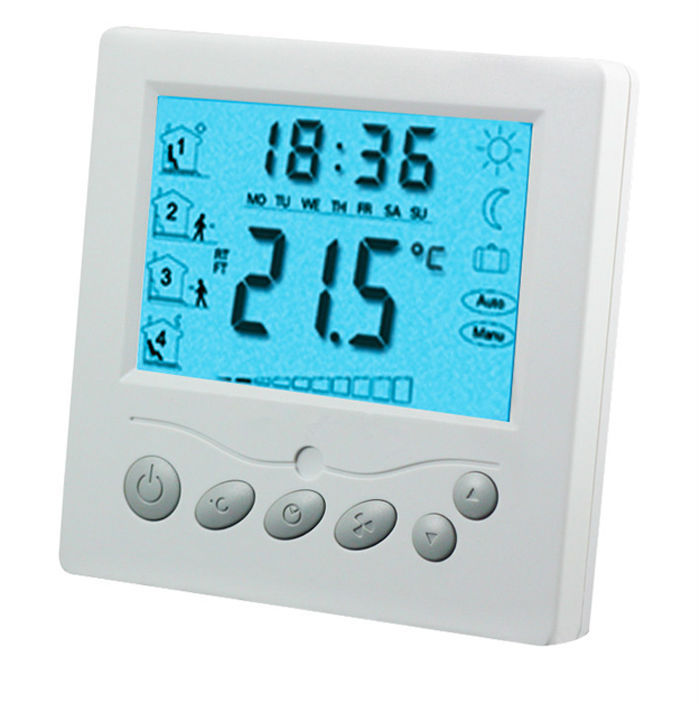 Large LCD 20A 220VAC Underfloor Heating Thermostat With Blacklight TFAEY-309L<br>