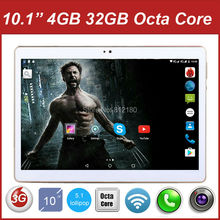 "Latest 10.1"" Cheapest TABLET PC Octa Core 3G Tablet PC 10 inch Dual Cameras Dual SIM Cards 4GB RAM 32GB ROM Free Shipping"