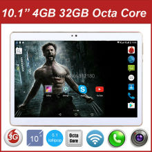 "Latest 10.1"" Cheapest TABLET PC Octa Core 3G Tablet PC 10 inch Dual Cameras Dual SIM Cards 4GB RAM 32GB ROM Free Shipping(China)"