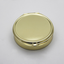 Gold Compact Mirror with 3 Compartments inside,powder handbag mirror(China)
