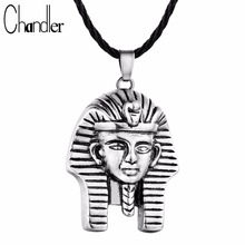 Chandler Pharaoh Pendant Necklace For Men/Women Vintage Egypt Egyptian King Classic Dubai Jewelry Italy Quality No Change Color(China)