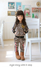 Winter new boys and girls can wear pants zipper jacket + LEOPARD VELVET suit
