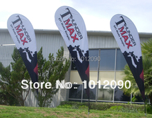 300X130CM Teardrop Flag with Custom one side printing .10ft Tall Hot sales Outdoor Advertising Teardrop Beach Flag