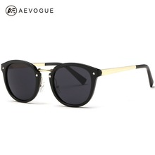 AEVOGUE Newest Vintage Brand Design Sunglasses Women Single Nose Bridge Metal Temple Hot Selling Sun Glasses Oculos UV400 AE0259