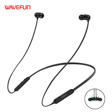 Wavefun Flex Bluetooth Earphone Sports Wireless Headphones Stereo Magnetic Bluetooth Headset for Phone Xiaomi iPhone Android IOS(China)