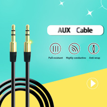 3.5mm Male to Male Audio Cable Flat Jack 3.5 mm Aux Wire Cable for Car iPhone 7 6 Samsung MP3/4 Headphone Speaker Aux Cord