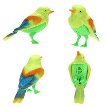 LUFY Plastic Sound Voice Control Activate Chirping Singing Bird Funny Toy Gift Free Shipping