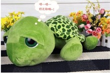 stuffed animal 35cm green turtle big eyes turtle toy tortoise soft doll w2643(China)
