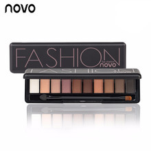 NOVO Eye Shadow 10colors Natural Fashion Shimmer Matte Eyeshadow Palette Makeup Professional naked Make Up Nude Basic Eye Shadow(China)
