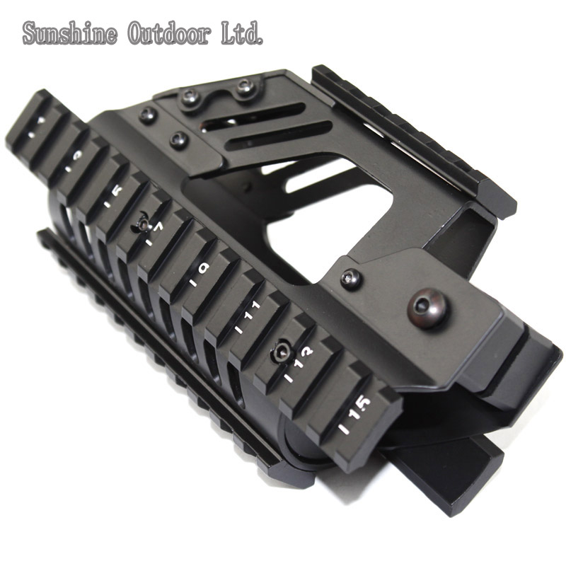 P90 hunting accessories aluminum handguard rail system 4 Side rail Picatinny Rail for AEG P90<br>