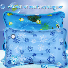 2017 Summer Student Siesta Ice Pillow Multi-functional Cartoon Ice Crystal Cool Pillow Square Shape Two Patterns Available