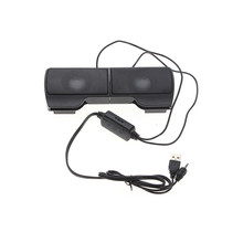 Mini Stereo Clip-On Stereo Laptop Notebook Speaker Powered by USB For Dell Fashion Phone Subwoofer Mini