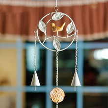 Dream Catcher Enforcamentos Decor Acessórios Dreamcatcher Wind Chime ZAKKA Aves Resina Ferro Forjado Sinos de Vento de Presente de Aniversário(British Indian Ocean Territory)