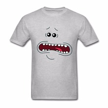 Classical T-Shirts Men's T Shirts Men Rick And Morty I'M MR. MEESEEKS LOOK AT ME Clothing Cotton Funny Graphic T Shirts