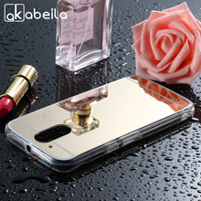 AKABEILA Mobile Phone Cases For Motorola Moto G4 2016 G4 Play Cover XT1625 XT1622 XT1600 Case Plating Mirror PC TPU Bags Skin